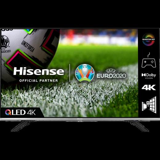"""Hisense QLED 50E76GQTUK 50"""" Smart 4K Ultra HD TV"""