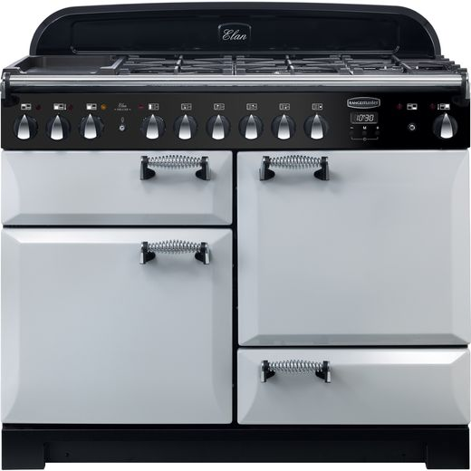 Rangemaster Elan Deluxe ELA110DFFRP 110cm Dual Fuel Range Cooker - Royal Pearl - A/A Rated