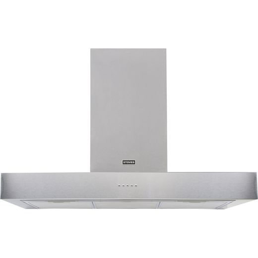 Stoves Sterling ST S1100 STER FLAT STA 110 cm Chimney Cooker Hood - Stainless Steel - A Rated