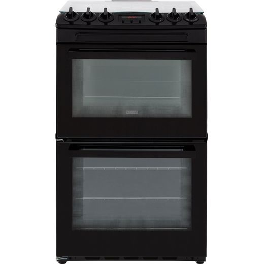 Zanussi ZCG43250BA 55cm Gas Cooker with Full Width Electric Grill - Black - A/A Rated
