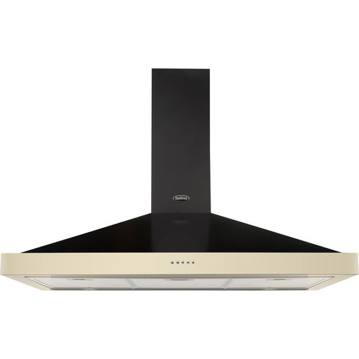 Belling FARMHOUSE 100 CHIM 100 cm Chimney Cooker Hood - Cream - D Rated