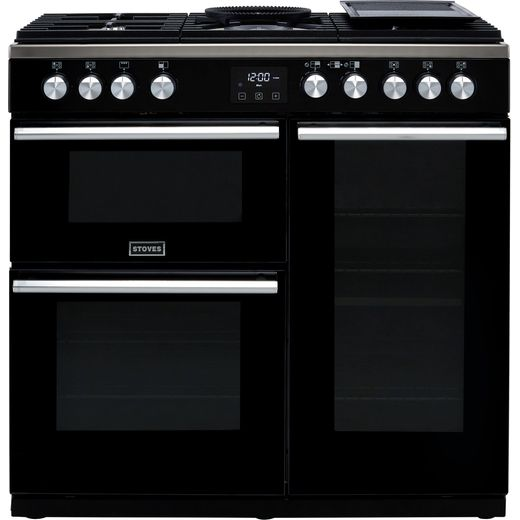 Stoves Precision DX S900G 90cm Gas Range Cooker - Black - A/A Rated