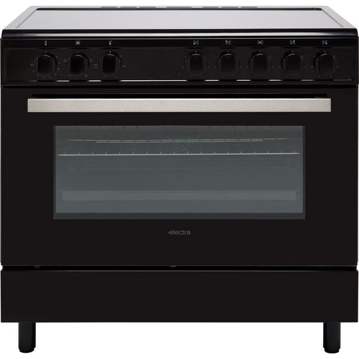 Electra SCR90B 90cm Electric Range Cooker with Ceramic Hob - Black - A Rated