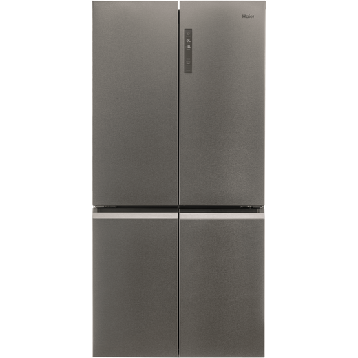 Haier Slim Depth Cube HTF-540DP7 American Fridge Freezer - Stainless Steel Effect - F Rated