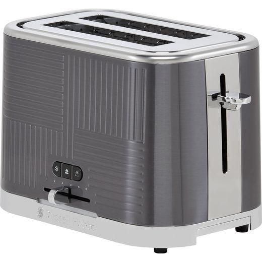 Russell Hobbs Geo-Steel 25250 2 Slice Toaster - Silver