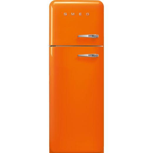 Smeg Left Hand Hinge FAB30LOR5 70/30 Fridge Freezer - Orange - D Rated