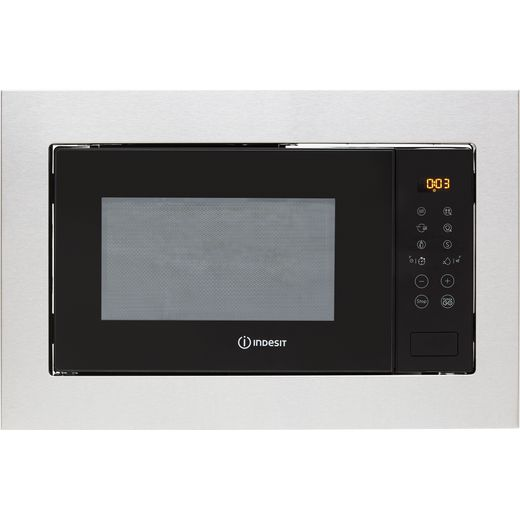 Indesit MWI125GXUK Built In Microwave With Grill - Stainless Steel