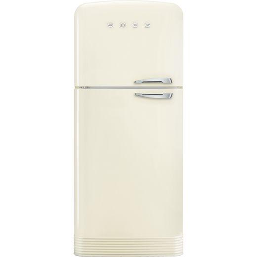Smeg Left Hand Hinge FAB50LCR5 80/20 Frost Free Fridge Freezer - Cream - E Rated