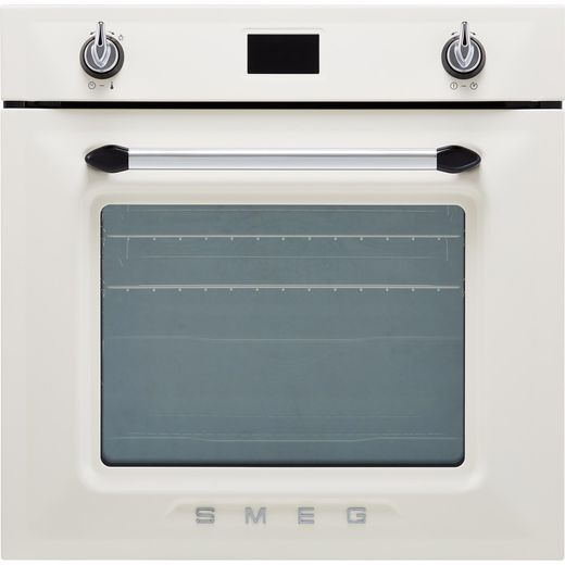 Smeg Victoria SFP6925PPZE1 Built In Electric Single Oven - Cream - A+ Rated