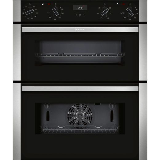 NEFF N50 J1ACE4HN0B Built Under Electric Double Oven - Stainless Steel - A/B Rated