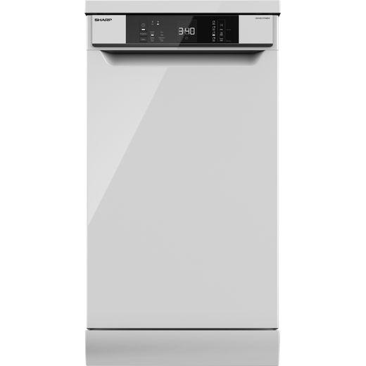 Sharp QW-NS1CF49EW-EN Slimline Dishwasher - White - E Rated