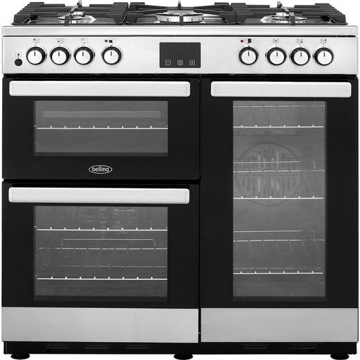 Belling Cookcentre90DFT 90cm Dual Fuel Range Cooker - Stainless Steel - A/A Rated