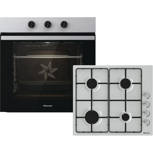 Hisense BI6061GSUK Built In Electric Single Oven and Gas Hob Pack - Stainless Steel - A Rated