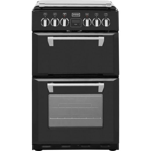 Stoves Mini Range RICHMOND550E 55cm Electric Cooker with Ceramic Hob - Black - A/A Rated