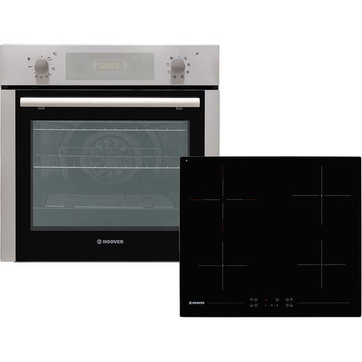 Hoover HPKCER60X/E Built In Electric Single Oven and Ceramic Hob Pack - Stainless Steel - A Rated