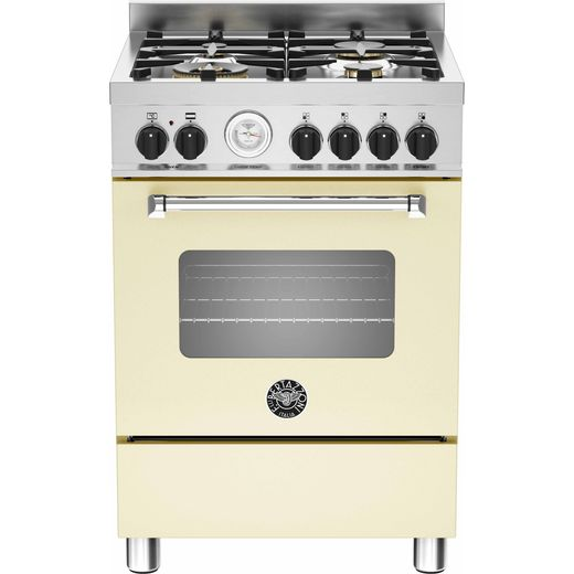 Bertazzoni Master Series MAS60-4-MFE-S-CRE 60cm Dual Fuel Cooker - Cream - A Rated