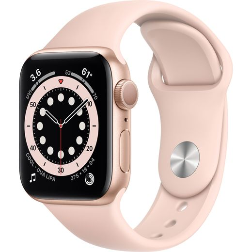 Apple Watch Series 6, 40mm, GPS [2020] - Gold Aluminium Case with Pink Sand Sport Band