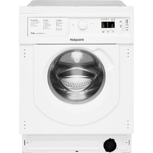 Hotpoint BIWDHG75148UKN Integrated 7Kg / 5Kg Washer Dryer with 1400 rpm - White - E Rated
