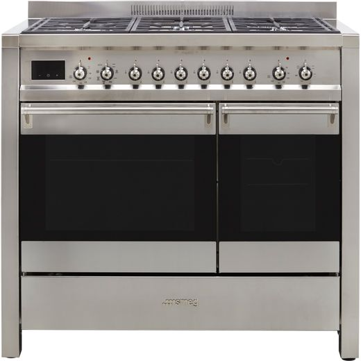Smeg Opera A2-81 100cm Dual Fuel Range Cooker - Stainless Steel - A/B Rated
