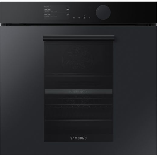 Samsung Infinite NV75T9579CD Wifi Connected Built In Electric Single Oven with added Steam Function - Satin Grey - A+ Rated