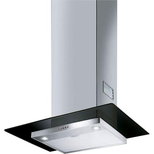 Smeg KFV62DNE 60 cm Chimney Cooker Hood - Stainless Steel / Black Glass - B Rated