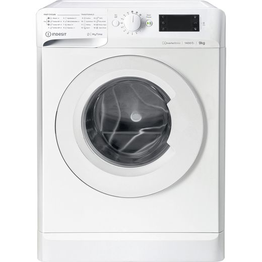 Indesit My Time MTWE91483WUK 9Kg Washing Machine with 1400 rpm - White - D Rated