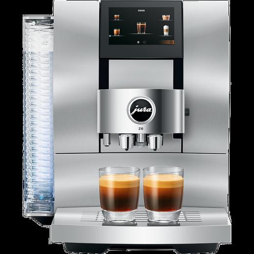 Jura Z10 15360 Wifi Connected Bean to Cup Coffee Machine - Aluminium / White