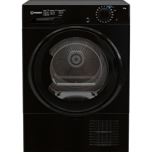 Indesit I2D81BUK 8Kg Condenser Tumble Dryer - Black - B Rated