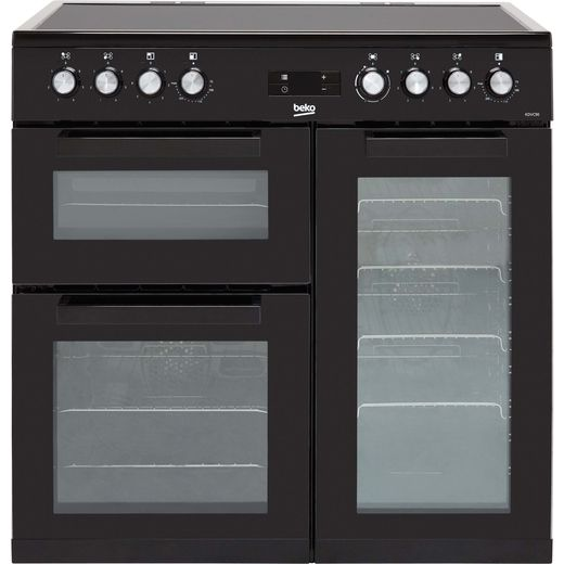 Beko KDVC90K 90cm Electric Range Cooker with Ceramic Hob - Black - A/A Rated