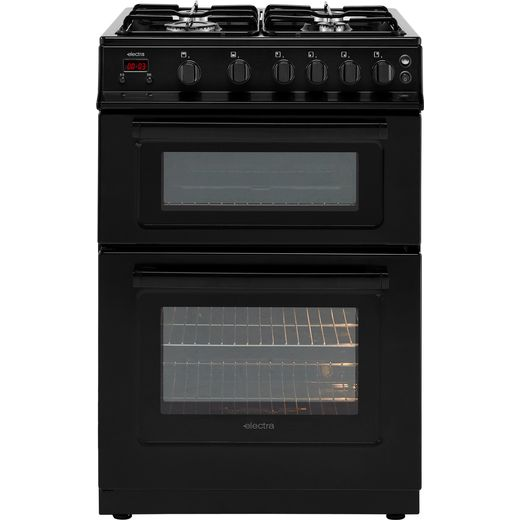 Electra TG60B 60cm Gas Cooker with Variable Gas Grill - Black - A+ Rated
