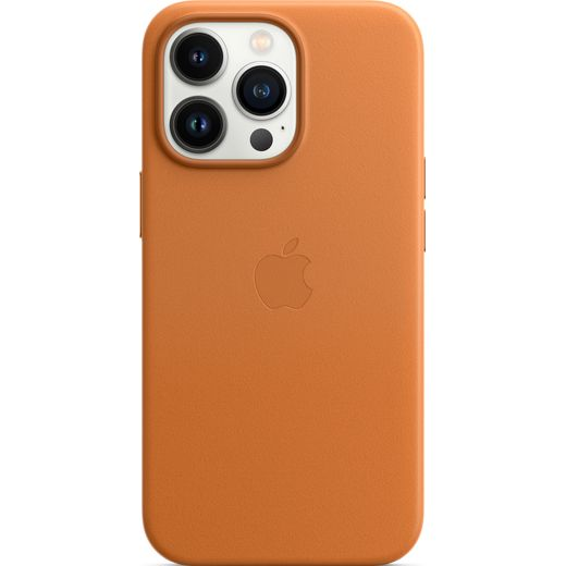 Apple Leather Case with Magsafe for iPhone 13 Pro - Golden Brown