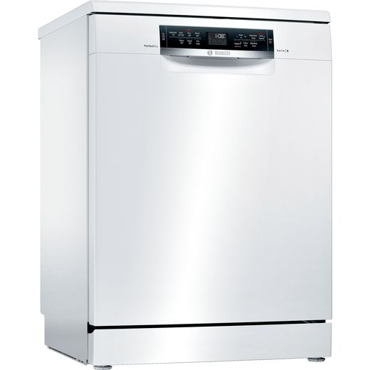 Bosch Serie 6 SMS67MW00G Standard Dishwasher - White - D Rated