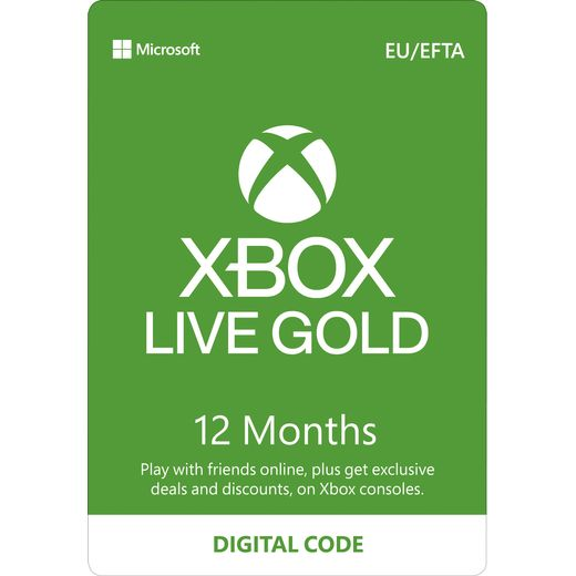 Xbox 12 Month Xbox Live Gold Membership – Digital Code