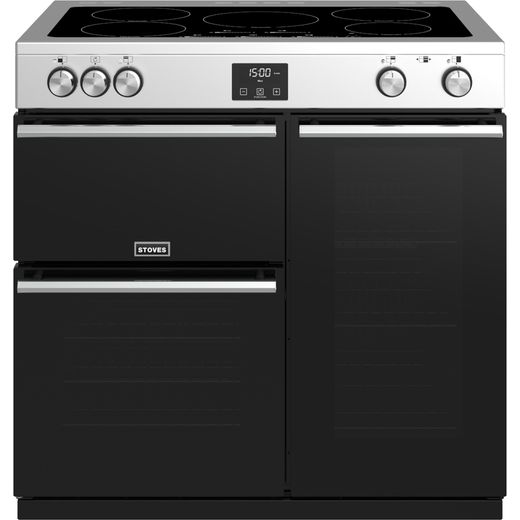 Stoves Precision DX S900Ei 90cm Electric Range Cooker with Induction Hob - Stainless Steel - A/A/A Rated