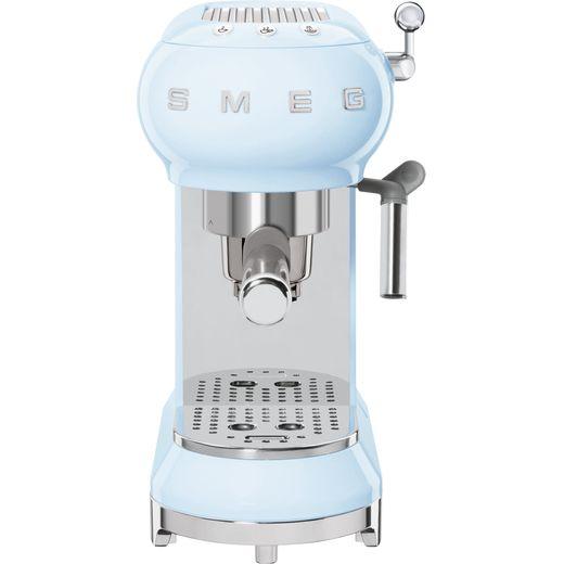 Smeg 50's Retro ECF01PBUK Espresso Coffee Machine - Pastel Blue