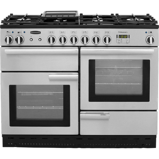 Rangemaster Professional Plus PROP110DFFSS/C 110cm Dual Fuel Range Cooker - Stainless Steel - A/A Rated