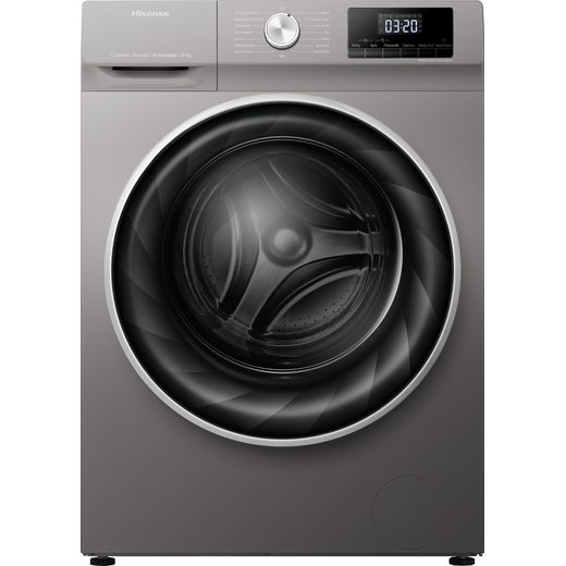 Hisense WFQY1014EVJMT 10Kg Washing Machine with 1400 rpm - Titanium - B Rated
