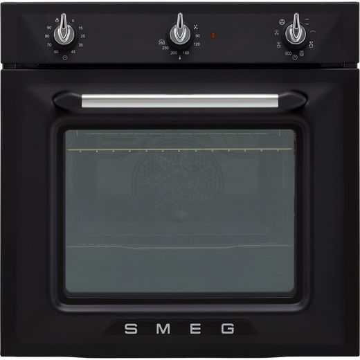 Smeg Victoria SF6905NO1 Built In Electric Single Oven - Matte Black - A Rated