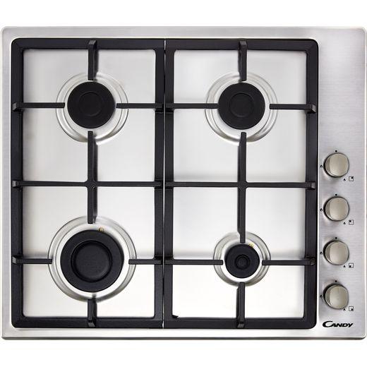 Candy CHG6LX 60cm Gas Hob - Stainless Steel