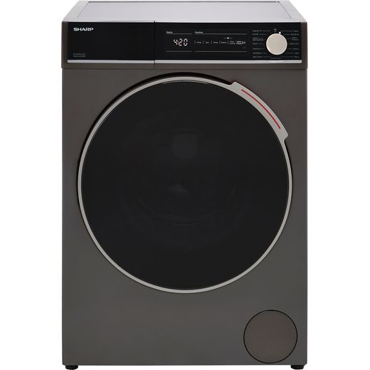 Sharp ES-NFH014CAC-EN 10Kg Washing Machine with 1400 rpm - Graphite - C Rated