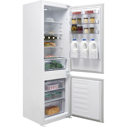 Beko BCFD373 Integrated 70/30 Frost Free Fridge Freezer with Sliding Door Fixing Kit - White - F Rated