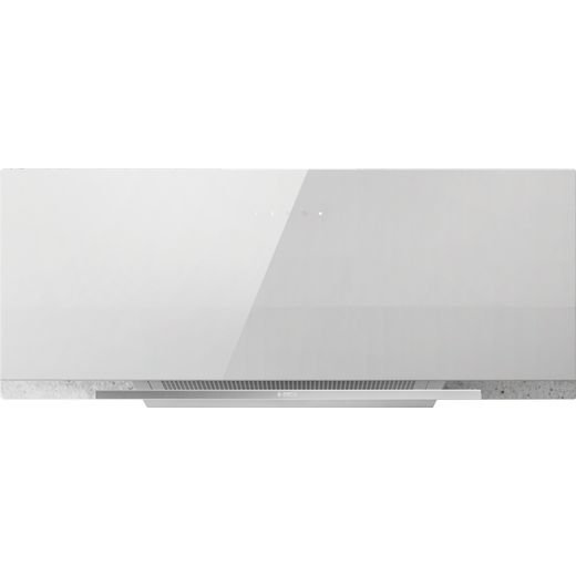Elica APLOMB-WH-90 90 cm Chimney Cooker Hood - White Glass - A Rated