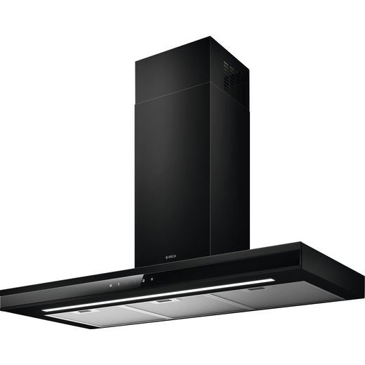 Elica ADELE-BK-SS-90 90 cm Chimney Cooker Hood - Black / Stainless Steel - A Rated