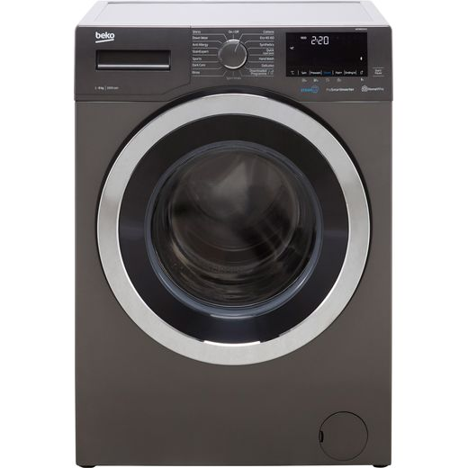 Beko SteamCure RecycledTub™ WER860541G 8Kg Washing Machine with 1600 rpm - Graphite - C Rated