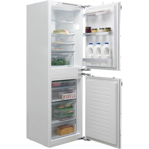 Bosch Serie 4 KIV85VFF0G Integrated 50/50 Fridge Freezer with Fixed Door Fixing Kit - White - F Rated