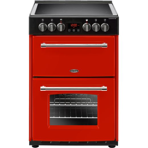 Belling Farmhouse60E 60cm Electric Cooker with Ceramic Hob - Hot Jalapeno - A/A Rated
