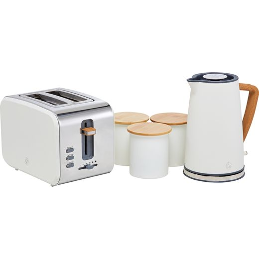 Swan Nordic STRP3025WHTN Kettle And Toaster Set - White