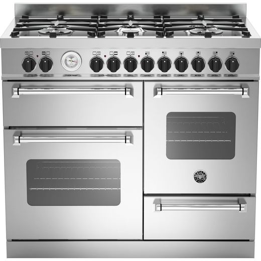 Bertazzoni Master Series MAS100-6-MFE-T-XE 100cm Dual Fuel Range Cooker - Stainless Steel - A/A Rated