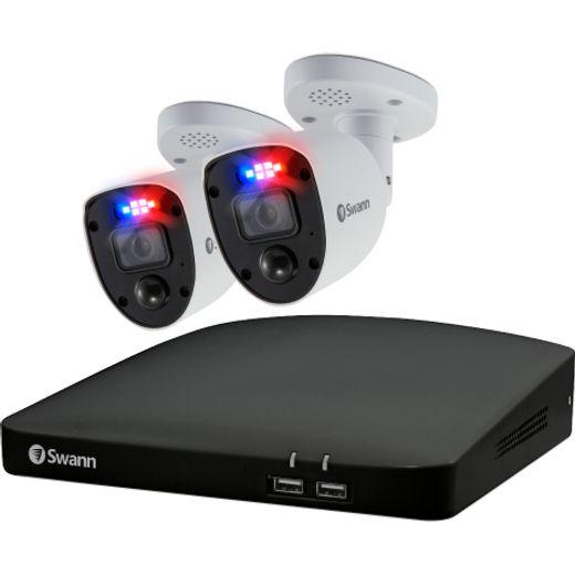 Swann Enforcer 2 Camera 4 Channel DVR Security System 4K - Black / White