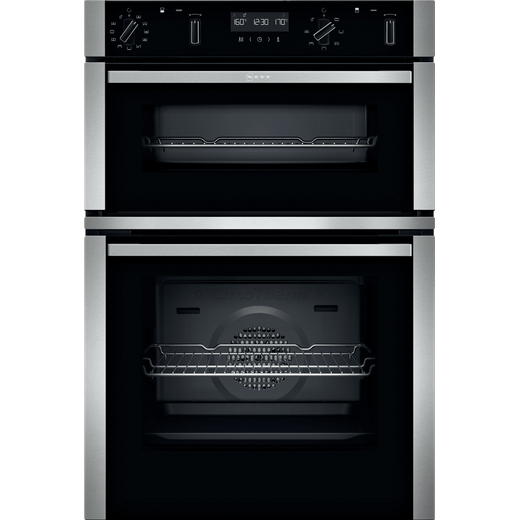 NEFF N50 U2ACM7HH0B Built In Electric Double Oven - Stainless Steel - A/B Rated